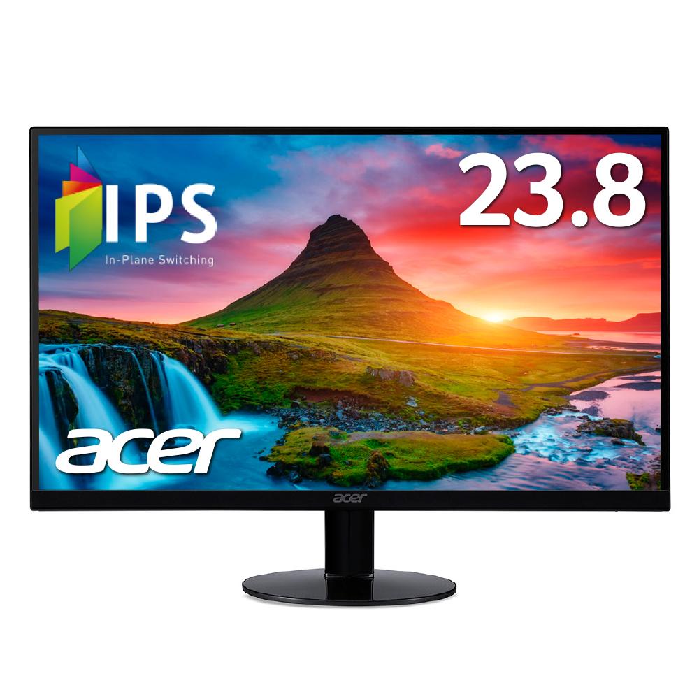 【エントリーでポイント10倍】Acer パソコン(PC)モニター 液晶モニター SA240YAbmi 23.8インチ レームレス IPS フルHD 4ms HDMI VGA端子 スピーカー内蔵 ゲームにオススメ!PCモニター PCディスプレイ 新品
