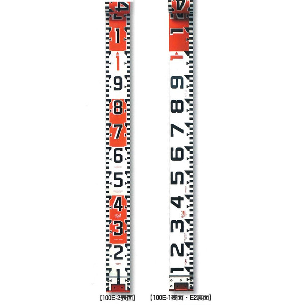 YAMAYO ヤマヨ測定機 リボンロッド両サイド100E-2 100mm幅 30m テープのみ R10B30 E2 (表タテ数字20cm毎赤白 裏ヨコ数字1m毎赤白) リボンテープ 【測量/土木/建築/現場写真/工事写真】