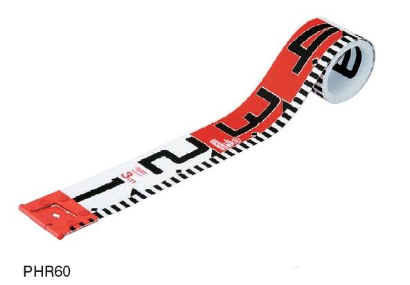 MYZOX マイゾックス フォトロッド 60mm幅 30m テープのみ PHR60-30K (表20cm赤白タテ目盛 裏1m赤白裏ヨコ目盛) 【工事写真 リボンテープ】