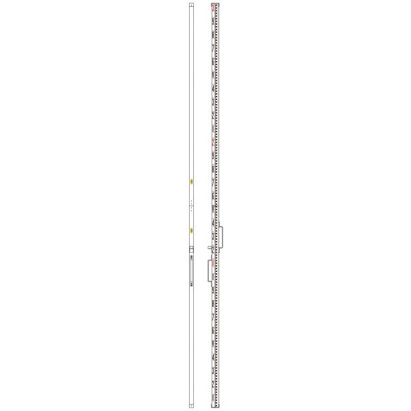 [送料無料] SK|TAIHEI 大平産業 2級水準標尺(日本測量協会検定済) LRA-232S 3m2段継 【スタッフ/公共測量/3・4級水準測量/標尺/箱尺】