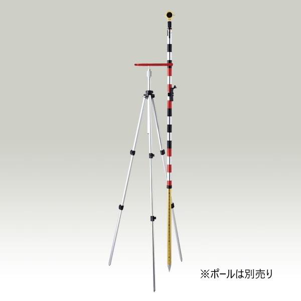 ハイビスカス プリズム三脚 グリップ部分は360度回転 プリズムポール ピンポール スタッフの固定に