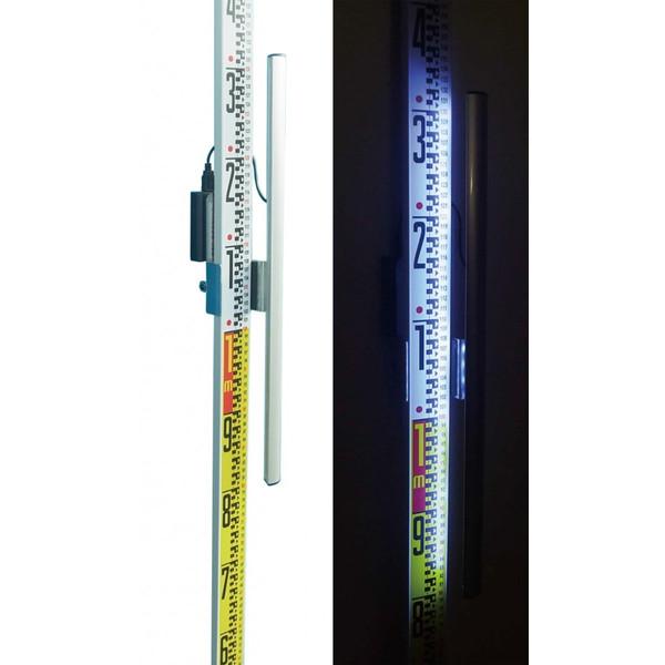 MYZOX マイゾックス スタッフ横付照明器具 Le Light 【アルミスタッフ 箱尺 標尺 スタッフ用ライト】