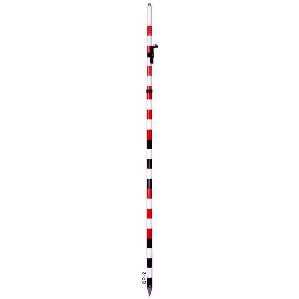 STS エスティーエス DP-2 プリズムポール 水準器付 2m2段伸縮式 [5-DP 測量 土木 測距]