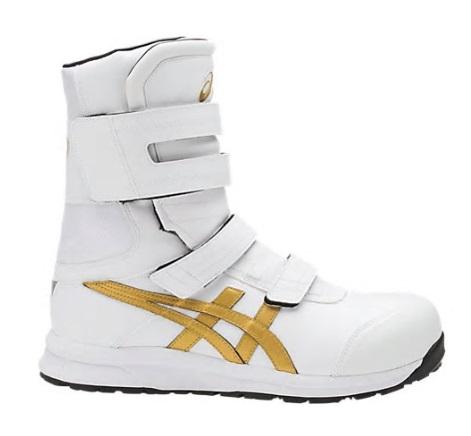 アシックス 安全靴 ウィンジョブ FCP401 ホワイト×ゴールド asics FCP401【工事現場/スニーカー/シューズ】