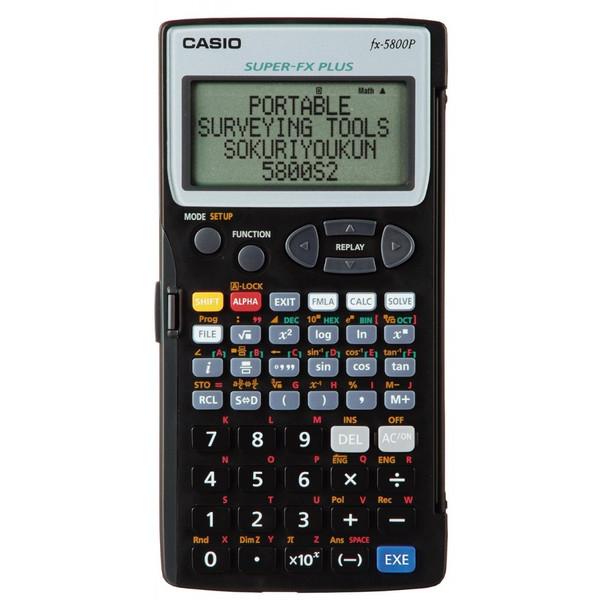 ヤマヨ 測量電卓 即利用くん 5800S2 プログラム関数電卓 携帯測量ツール