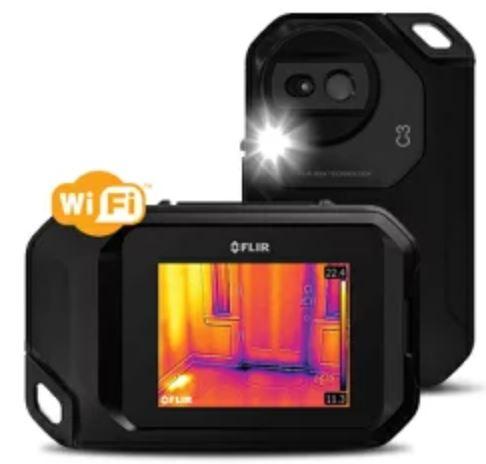 [送料無料] FLIR フリアーC3 赤外線サーモグラフィ WiFi対応 (建物検査 冷暖房 空調設備 断熱チェック) [日本正規品]