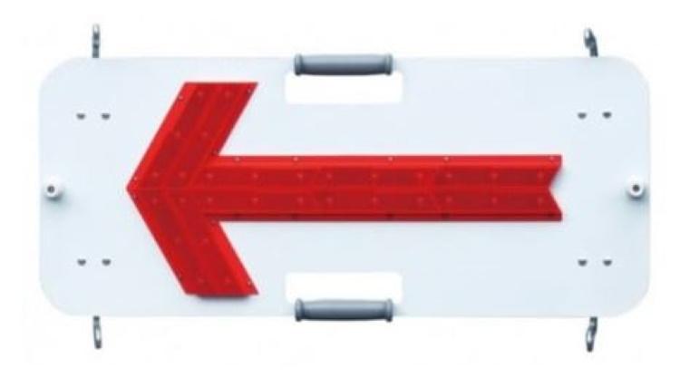 LED矢印板 フラッシャーパネル キタムラ産業 SKT-005FS 点滅 流動 夜間自動点滅機能付 LED警告灯 LED工事灯 保安用品 単一電池2本