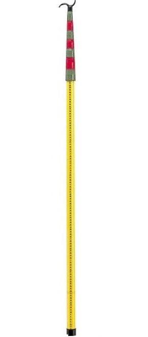 SK間隔測定桿 F-8(8m8段継)先端取替可能 耐電圧試験成績書付 重さ1.4kg 収納サイズ1420mm 電力会社向き 高さ計測 電線の高さ