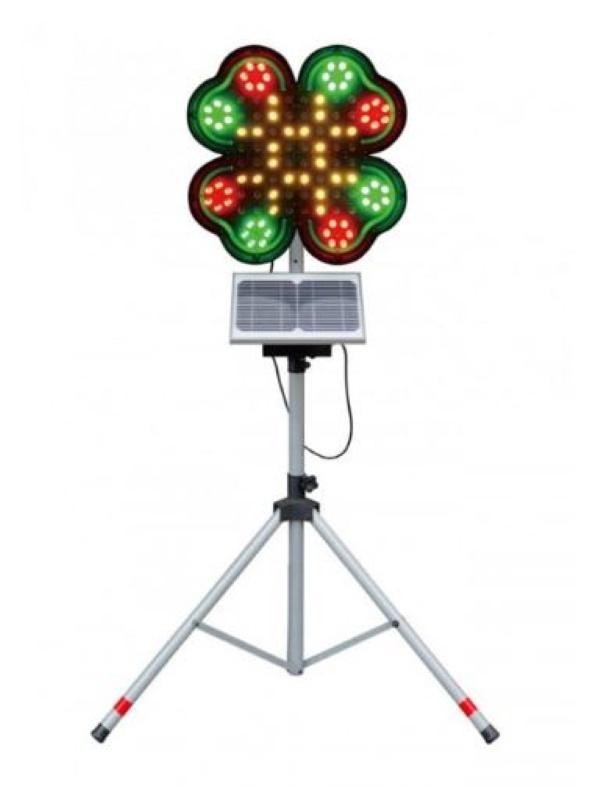 【代引き不可】LED警告灯 スプレンダー・リーフ KFF-112-S キタムラ産業 頭部・ソーラー電源ユニット・三脚のセット NETIS登録商品 工事灯 保安用品