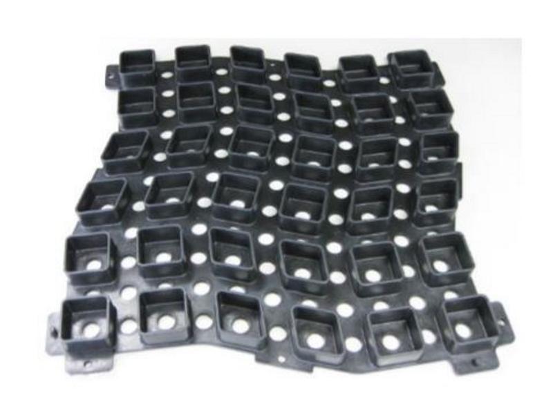 玉砂利固定具 10枚セット せきそうフィット 520×520×33.5 駐車場 神社参道 環境に優しいウッドプラスチック製