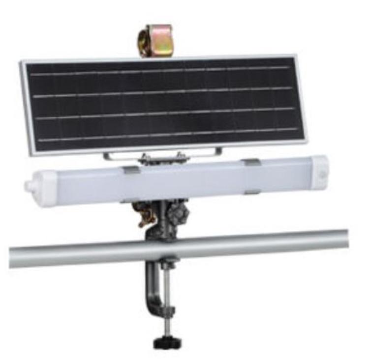 ソーラーセンサーライト ハタヤ SSL-12 12W 建築現場・資材置き場 仮設トイレなどの臨時照明