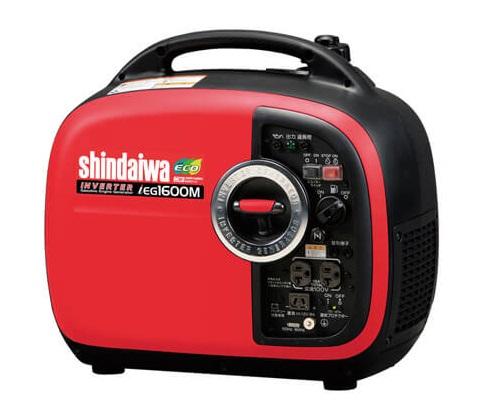 発電機 新ダイワ インバーター発電機 IEG1600M-M (ガソリンエンジン) shindaiwa  防音型 アウトドア 屋外作業 非常時 災害