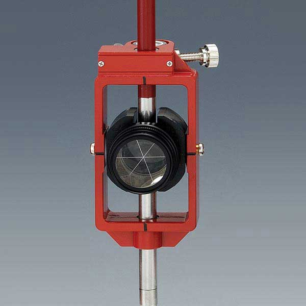 神山製作所 K式ピンポールプリズム2型セット スライド式 定数0mm ワンタッチストップ機構 (落下防止型) プリズム径1インチ 測量 土木 光波用ミラー