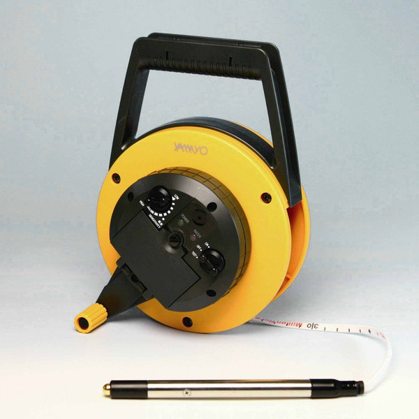 ヤマヨ ミリオンロープ水位計 10m RWL10M ロープタイプ 片面1cm目盛 水位検知ランプ付