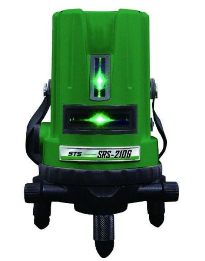 測量機器 墨出し器 STS 高輝度グリーンレーザー SRS-210G 地墨 大矩 水平ライン 垂直ライン2本