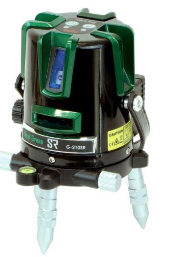 コンパクトな矩タイプの リアルグリーンレーザー墨出器 測量機 墨出し器 MYZOX マイゾックス 公式ショップ 三脚付 グリーンレーザー墨出器 受光器 G-210SR 本体セット 新作続