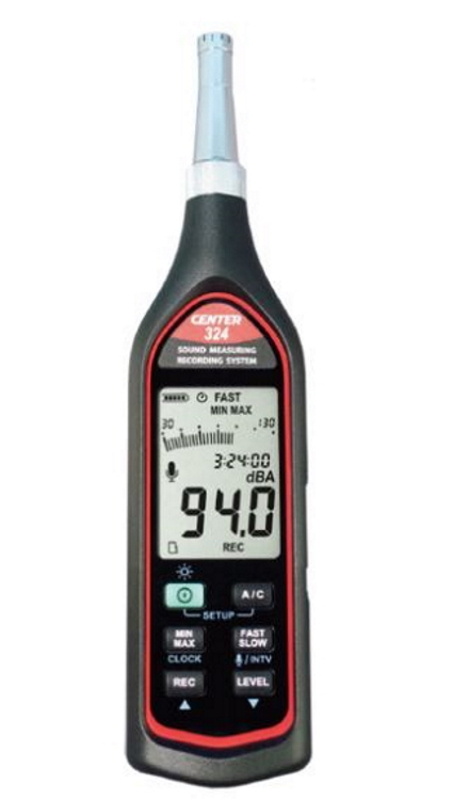 MK Scientific データロガー機能付きデジタル騒音計 CENTER324 測定範囲30~130dBメモリー数128000 エムケー・サイエンティフィック