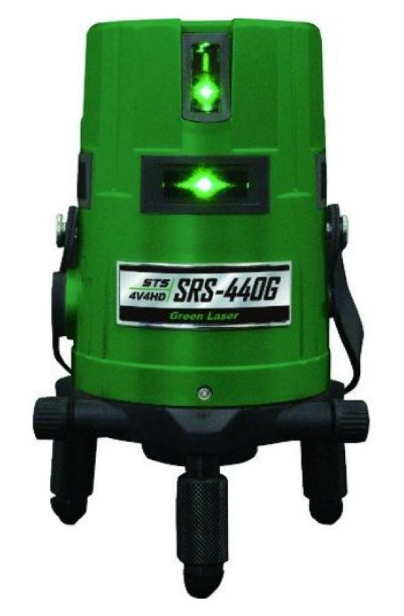 測量機器 墨出し器 STS 高輝度グリーンレーザー SRS-440G 地墨 大矩 水平全周 垂直ライン4本