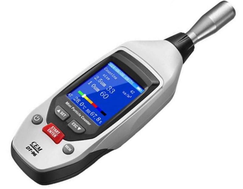 PM2.5 / PM10測定器 DT-96 2.0インチTFTカラーLCD画面 PM2.5とPM10を同時に表示