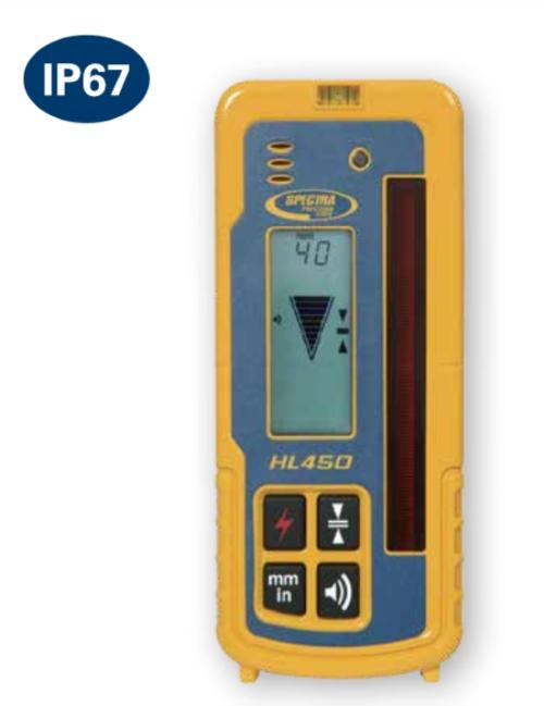 ニコントリンブル HL450 レベルセンサー(クランプ付)【レシーバー/受光器/ミリ表示/土木/建築/測量/切土/盛土 掘削作業/スペクトラプレシジョン】