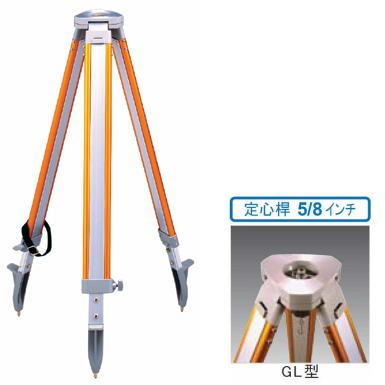 STS エスティーエス アルミ三脚 SOK-GL 平面 5/8inchねじ 3-502 [測量 オートレベル トータルステーション 光波 回転レーザー 電子レベル]