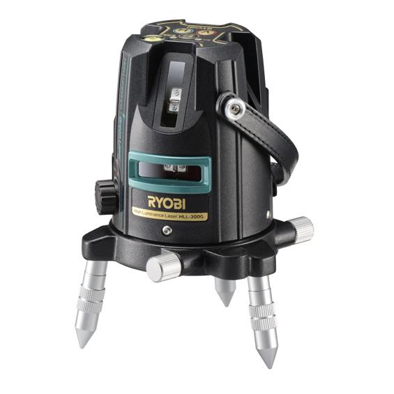 [送料無料] RYOBI リョービ HLL-300G グリーンレーザー墨出器 (受光器・三脚付き) 屋内外兼用 [建築 墨出し JSIMA認定事業者]
