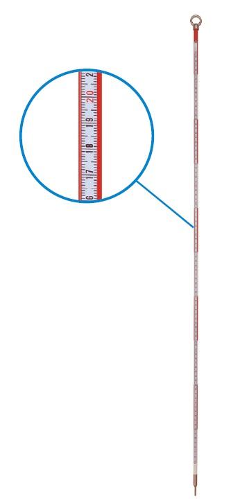 [送料無料] 日本度器 楽測ピンポール 1m ミリ目付きピンポール [測量 土木 測距 トータルステーション]