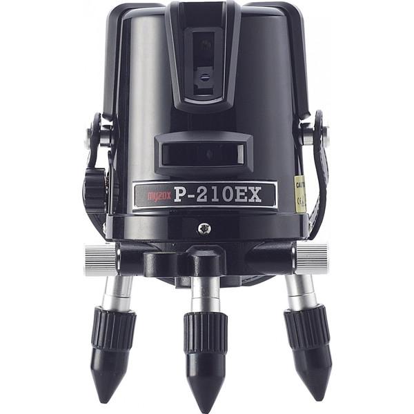 [保証付・送料無料] MYZOX マイゾックス レーザー墨出器 P-210EX 本体セット [当店は安心のJSIMA認定店です]