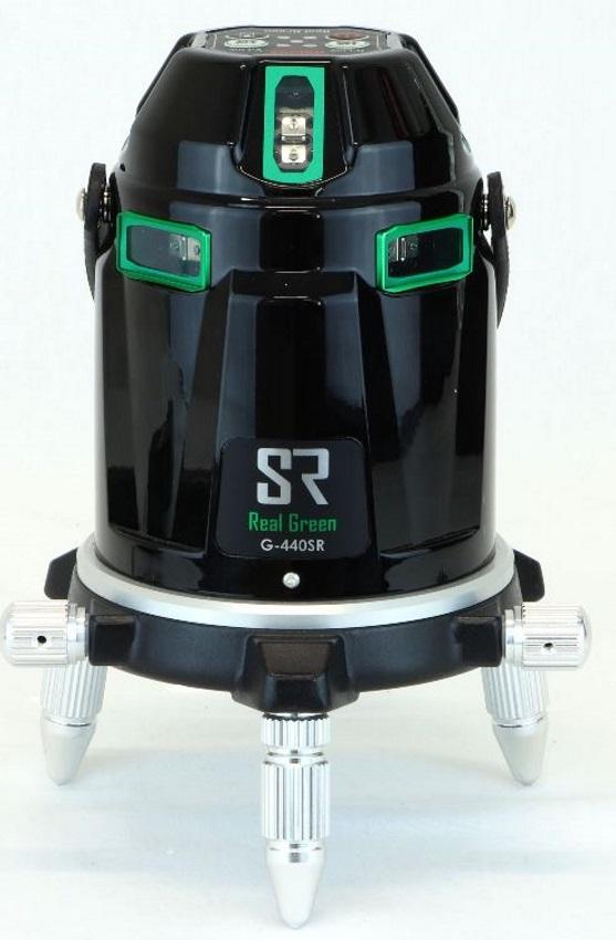 [保証付・] MYZOX マイゾックス 電子自動整準リアルグリーンレーザー墨出器 G-440SR 本体セット(受光器・三脚付)