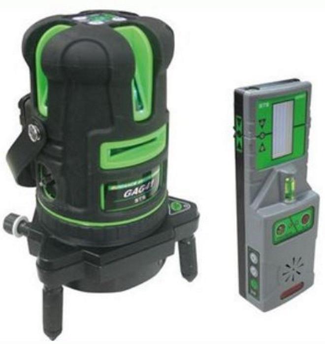 [保証付・] STS自動誘導グリーンレーザー墨出器 GAG41 標準セット(誘導受光器他)
