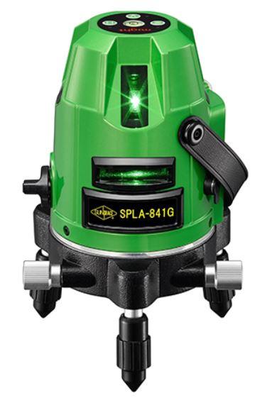 [保証付・] サンピース グリーンレーザー墨出器 SPLA-841G 標準セット(受光器・三脚付)