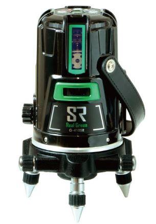 測量機 墨出し器 MYZOX マイゾックス リアルグリーンレーザー墨出器 G-410SR 本体セット(受光器・三脚付)