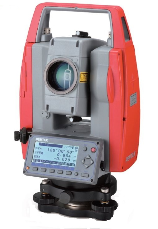 測量機器 計測機器 ペンタックス測量機 V-280pc ノンプリズムトータルステーション 光波 土木 逆打ち測定 杭打ち測定 対辺測定 2点後方交会法