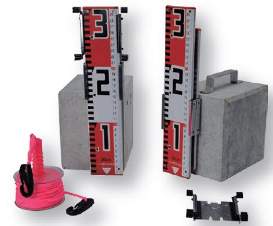 送料無料 簡易糸張機器 どん引写(どんぴしゃ) 土台 ミリ目付ロッド30cm 水糸 収納ケース付