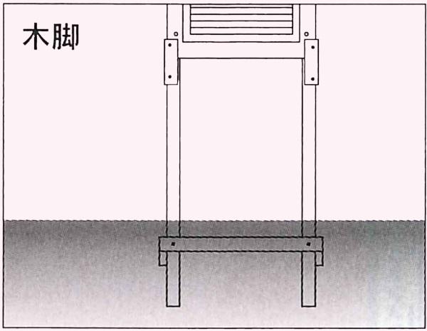 SK|TAIHEI 大平産業 百葉箱小型4号用 脚のみ H4-W (木脚) 【温湿度管理/温度/空調管理/学校教材/気象観測】※【代引き不可】※メーカー直送商品のため代引き決済はご利用いただけません。