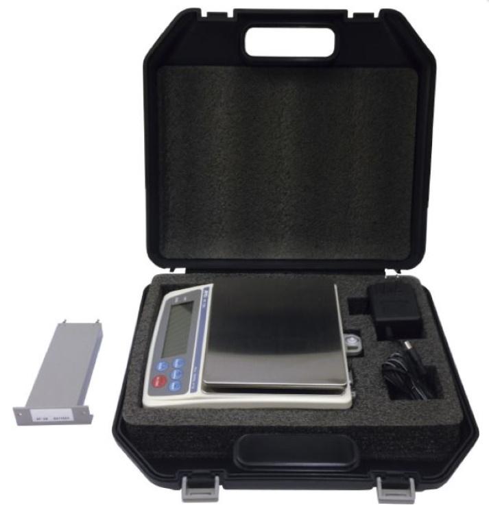 デジタル式はかり A&D パーソナル電子天びん 現場用セット EK-12KiS バッテリー ケースセット (最少目盛1g/ひょう量12kg)