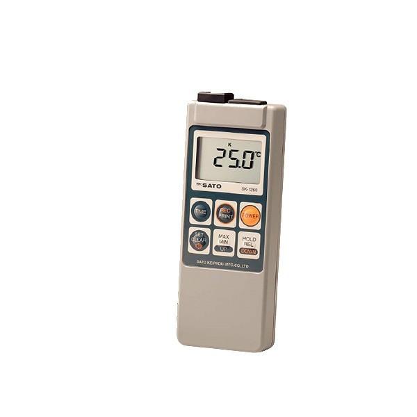 skSATO メモリ機能付防水型デジタル温度計 SK-1260 本体のみ(ソフトケース付) 【佐藤計量器製作所】
