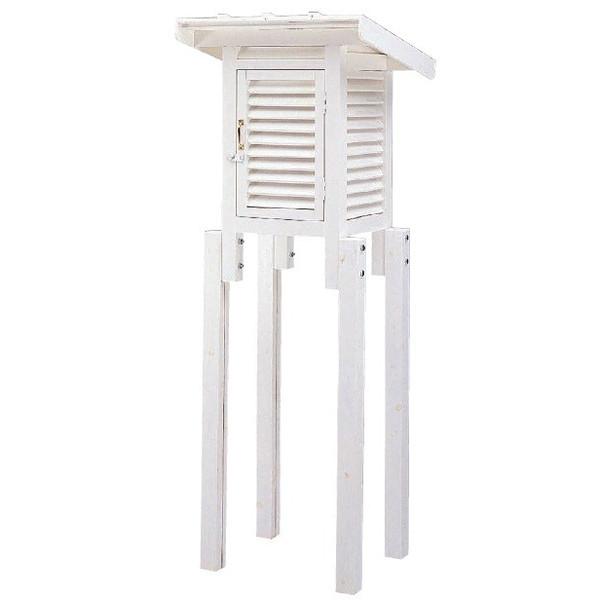 MYZOX マイゾックス 30型小型百葉箱 片屋根 組み立て済み [温湿度管理/温度/空調管理/学校教材/気象観測]