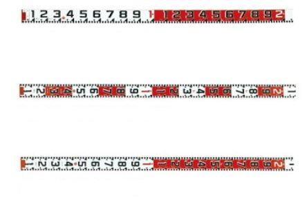 [送料無料] ハイビスカス 紅白ロッド 120mm幅テープのみ 50m HK12-50T【測量/土木/建築/現場写真/工事写真/記録用品】