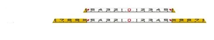 SK|TAIHEI 大平産業 スペースロッドW 全縮1200mm 全伸2000mm 左右非連動 SPW-1220 【標尺/測量/側溝測定/道路測定/管内寸法測定/伸縮ロッド/施工写真/工事写真/土木/建築】