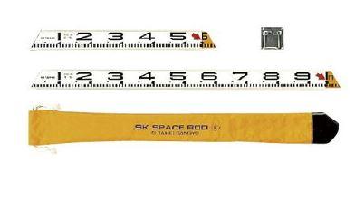 SK|TAIHEI 大平産業 スペースロッドセット Lセット SPR-L 【標尺/測量/管内寸法測定/法面測定/鉄筋測定/テトラポット寸法測定/伸縮ロッド/施工写真/工事写真