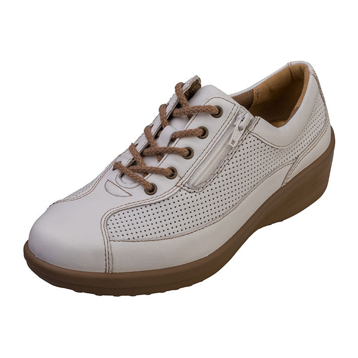 人気の製品 足もとの自由が広がる ゆったり履ける4E ウォーキングシューズ カジュアルシューズ スニーカー レディース 日本製 本革レザー アキレスソルボ ACHILLES アキレス 紐靴 SORBO スタンダード 4E 034 ASC0340 白 ソルボ