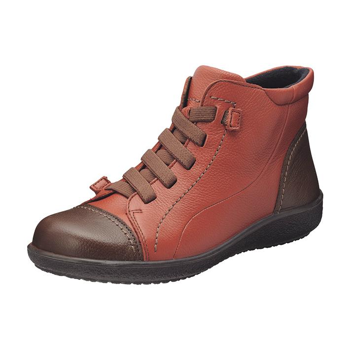 ブーツを履いた日は 秋冬という季節がもっと楽しめる ブーツ ウォーキングシューズ カジュアルシューズ スニーカー レディース 本革レザー アキレスソルボ ACHILLES ダークブラウン SRL1820 ファッション通販 レンガ アキレス ゴム紐仕様 3E 182 ソルボ 発売モデル SORBO
