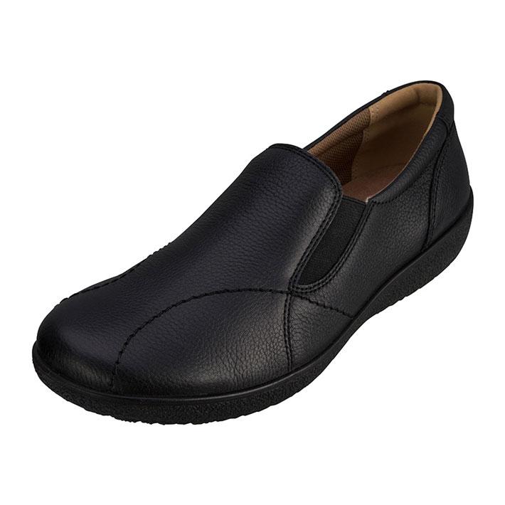 その靴は 歩くたびに私をリラックスさせる ウォーキングシューズ カジュアルシューズ スニーカー レディース 本革レザー アキレスソルボ ACHILLES 337 C 商舗 3E 特価キャンペーン ソルボ SORBO 黒 ASC3370 アキレス