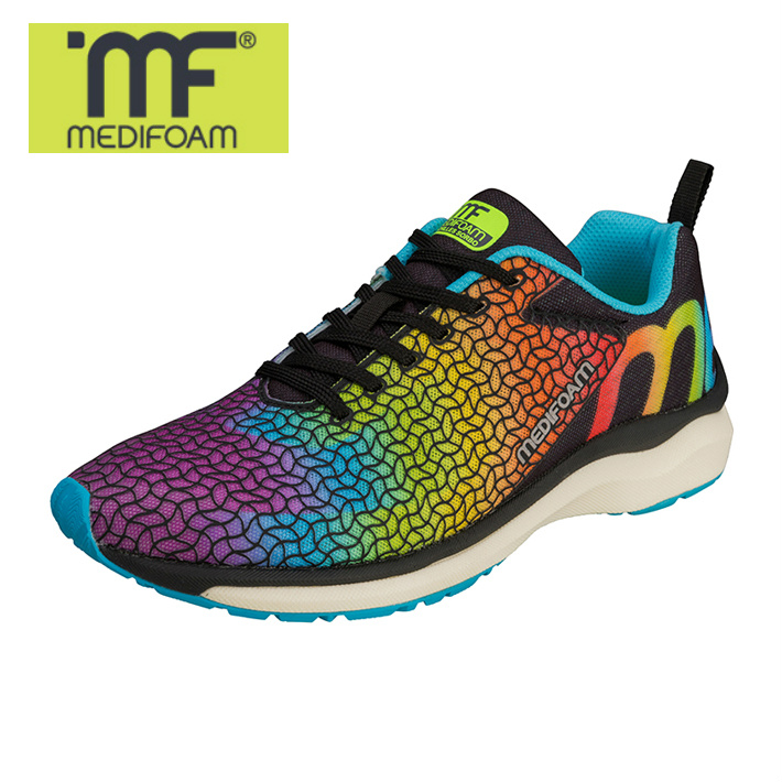MEDIFOAM/メディフォーム RUNNERS HI MF103 レインボー [MFR1030]アキレス・ソルボ/メディフォーム/ランニングシューズ ユニセックス/靴/ACHILLES SORBO