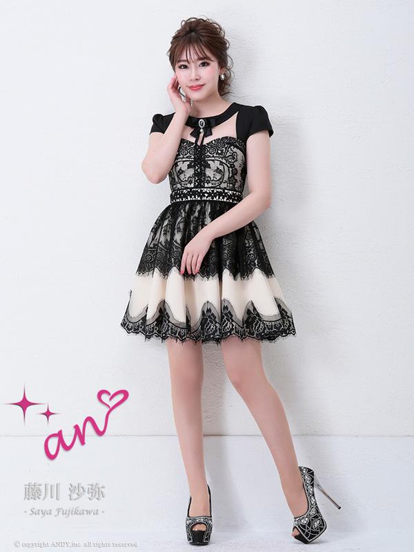 an ドレス AOC-2796 ワンピース ミニドレス Andyドレス アンドレス キャバクラ キャバ ドレス キャバドレス