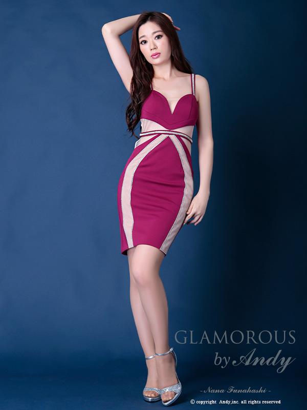 GLAMOROUS ドレス GMS-V540 ワンピース ミニドレス Andyドレス グラマラスドレス クラブ キャバ ドレス パーティードレス GLAMOROUS D-SELECTION 05 掲載商品