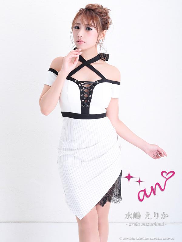 an ドレス AOC-2963 ワンピース ミニドレス Andyドレス アンドレス キャバクラ キャバ ドレス キャバドレス