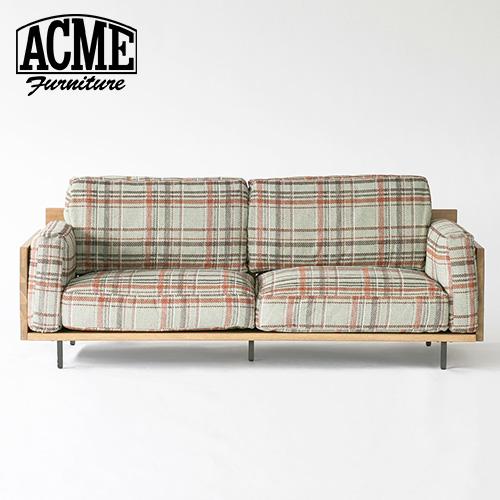 ACME Furniture アクメファニチャー CORONADO SOFA 3P AC08 チェックブルー コロナド ソファ 3人掛け チェックブルー ソファ ソファー 3人掛け【送料無料】