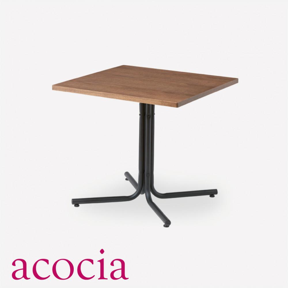 【ダイニング 半額セール】 【ソファー半額セール】 インダストリアル テーブル ダイニングテーブル 木製 W75×D75×H67 ダリオ カフェテーブル 男前インテリア おしゃれ 流行